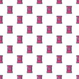 Food snack pillow bag pattern seamless Royalty Free Stock Images