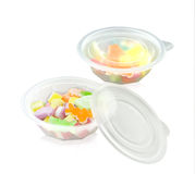 Food or snack storage bowl  on white Royalty Free Stock Photography