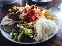 Food. Somebody want the papaya salad Royalty Free Stock Photos