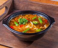 Food soup noodles vegetables broccoli. Asia fast food Royalty Free Stock Images