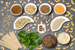 Food is source of vitamin B1 royalty free stock photo