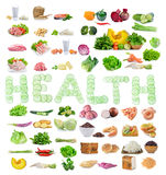 Food sources of complex carbohydrates,protein,vegetables isolate Stock Image