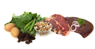 Food Sources of Iron Stock Images