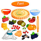 Food and Spice ingredient for fruit Tart Stock Image