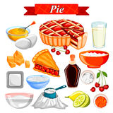 Food and Spice ingredient for Pie. Illustration of Food and Spice ingredient for Pie Stock Images