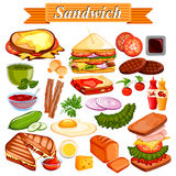 Food and Spice ingredient for Sandwich Stock Photos