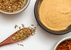 Food and spices herb for cooking background and design. Royalty Free Stock Image