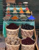 Food and spices for sale in a small shop Royalty Free Stock Photos