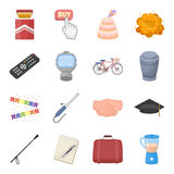 Food, sport, religion and other web icon in cartoon style.Button, travel, education icons in set collection. Royalty Free Stock Photo