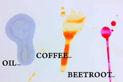 Food stains on white Royalty Free Stock Photography