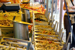 Food Stall. In French Market in Bristol Royalty Free Stock Images