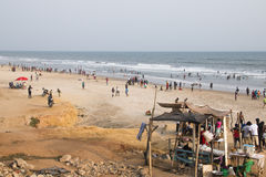 Food stall on the beach in Accra, Ghana Stock Images