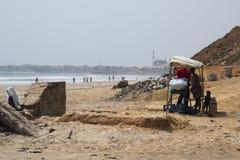 Food stall on the beach in Accra, Ghana Stock Photos