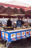 Food stall at Bergen market royalty free stock image