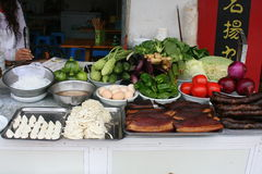 Food stall in China Stock Images
