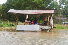 Food Stall in Floods Stock Images