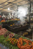 Food stall in Marrakesh main square Stock Photography