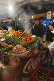 Food stall in Marrakesh main square Royalty Free Stock Photos