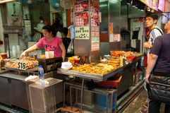 Food stall at Mong Kok, Hong Kong Stock Image