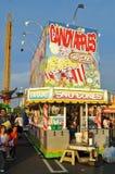Food Stall at Summer Carnival Stock Photo