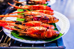 Food Stall in Thailand,prawn Royalty Free Stock Image