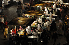 Food stalls at Djemaa el Fna Royalty Free Stock Image