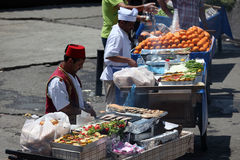 Food stalls in Istanbul, Turkey Royalty Free Stock Photos