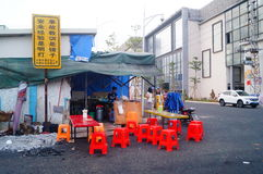 The food stalls in the street Industrial Zone Stock Images