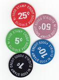 Food Stamp Tokens Royalty Free Stock Photo