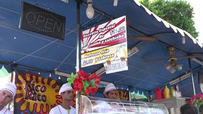 Food Stand in Carnival Stock Images