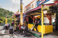 Food Stand El Yunque Rainforest Puerto Rico stock image