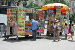 Food stand in New York Stock Photos