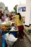 Food Stand Street Vendor Stock Photo