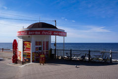 Food stand in Svetlogorsk Royalty Free Stock Photo