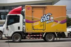 Food Star Company容器卡车  免版税库存图片