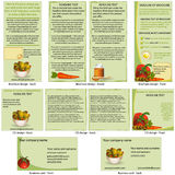 Food stationary template Royalty Free Stock Photos