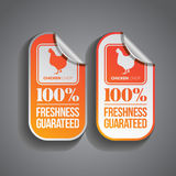 Food Sticker Chicken Royalty Free Stock Image