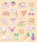 Food stickers Royalty Free Stock Photos