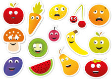 Food stickers Stock Photography