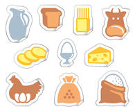 Food stickers Royalty Free Stock Photography