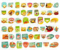 Food Stickers Set Royalty Free Stock Photos