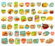 Food Stickers Set Royalty Free Stock Photos