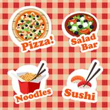 Food stickers  set Stock Image