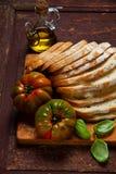Food still life. sliced fresh bread Stock Photography