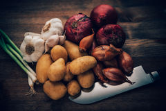 Food Stilll LIfe Flavorful Ingredients Stock Photo