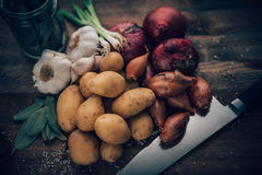 Food Stilll LIfe Flavorful Ingredients Royalty Free Stock Photos