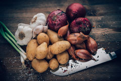 Food Stilll LIfe Flavorful Ingredients Stock Images