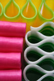 Food stock candy ribbon. Close up shot of sweet ribbon candy in various colors Royalty Free Stock Photography