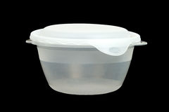 Food Storage Container on Black Royalty Free Stock Photos