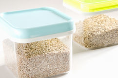Food storage. Plastic containers. Stock Photography